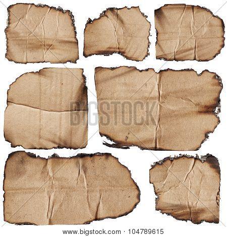 Set Of Burnt Cardboards
