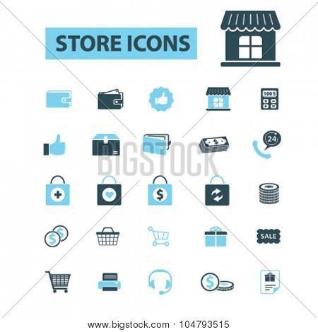 retail, store icons