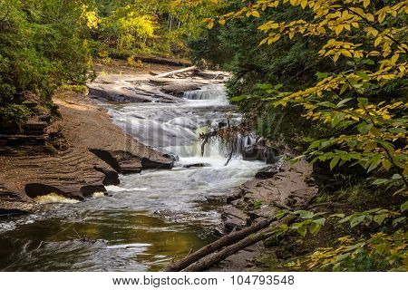 Autumn Michigan Waterfall