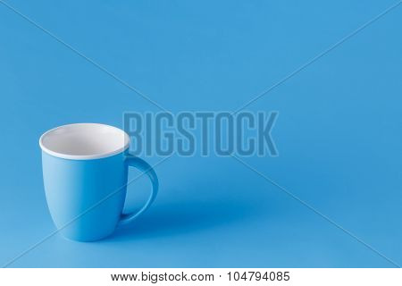 Blue Monochromatic Mug With Copy Space