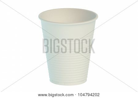 Empty Plastic Drinking Cup