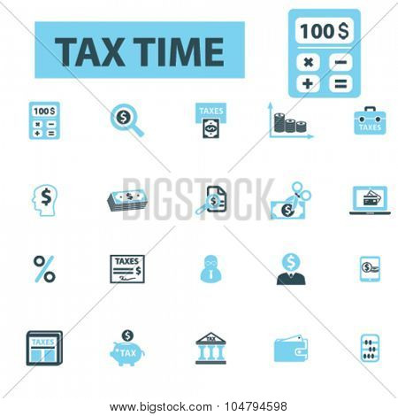 tax, accountant icons