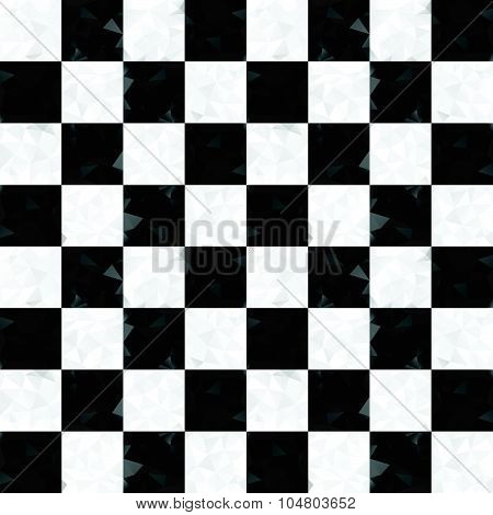 Seamless checkerboard of triangles