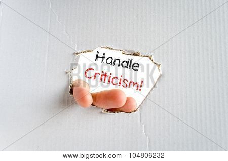 Handle Criticism Consent Text Concept