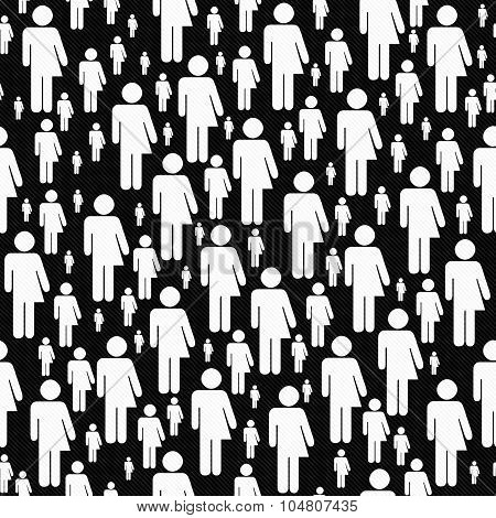 Black And White Transgender Symbol Tile Pattern Repeat Background