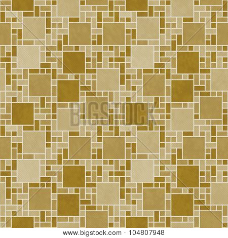 Gold And White Square Mosaic Abstract Geometric Design Tile Pattern Repeat Background