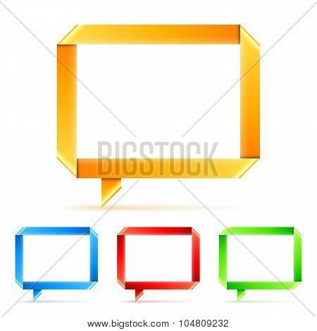 Folded Paper Speech Bubbles