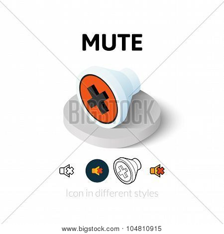 Mute icon in different style