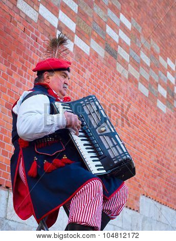 Traditional Poland Busker