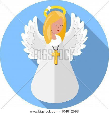 Angel .Flat Icon