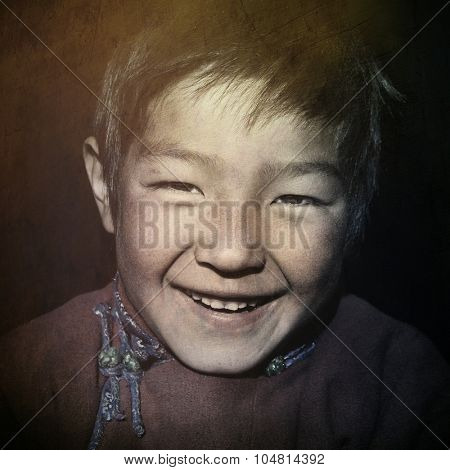 Asian Boy with a Beautiful Smile Cute Concept