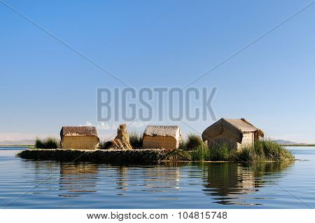 Floating Islands Uros In Peru