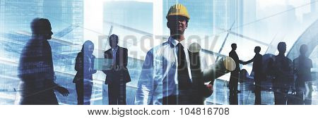 Engineer Architect Professional Occupation Corporate CIty Work Concept