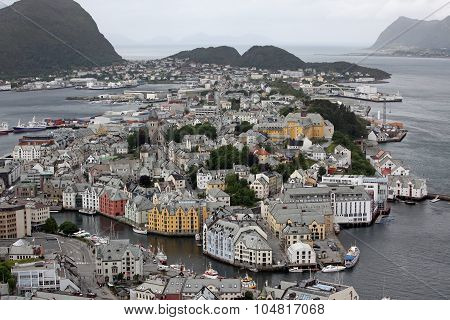 Alesund - Is Know As The Art Deco City Of Norway Due To It's Many Art Deco Buildings