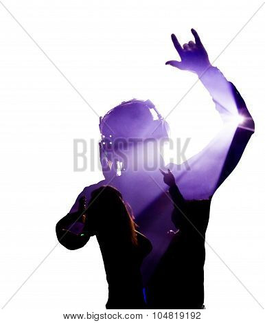 Man Rocking On With Headphones