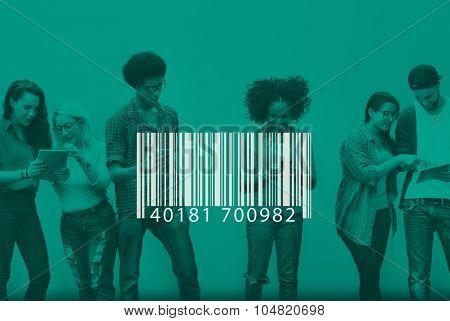 Bar Code Identification Label Encryption Tag Concept