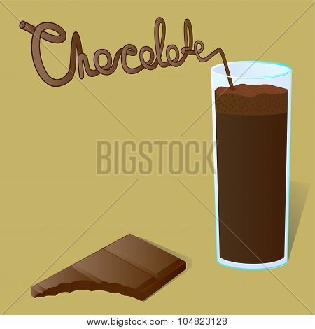 Tiles Melted Chocolate And A Chocolate Shake