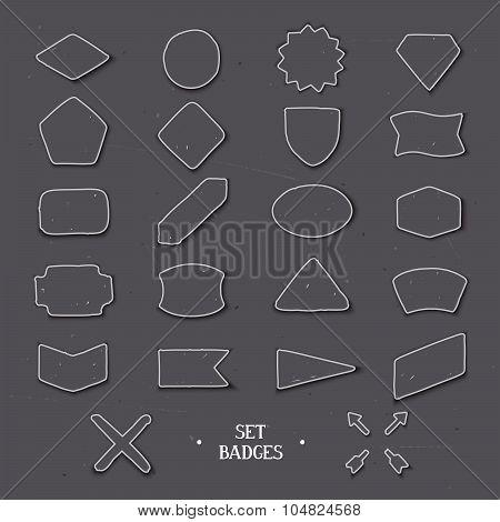 Set handcrafted badges