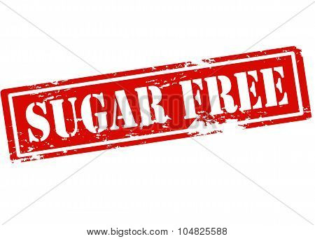 Rubber stamp with text sugar free inside vector illustration