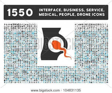 Artificial Insemination Icon and More Interface, Business, Medical, People, Awards Vector Symbols
