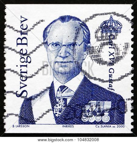 Postage Stamp Sweden 2000 Carl Xvi Gustaf, King