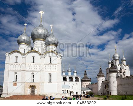 Assumption Cathedral With Belfry, Holy Gates And The Resurrect Church