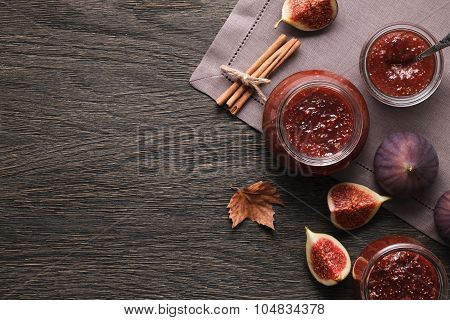 Fig jam background