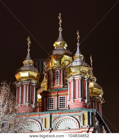 Church Of St John The Baptist Of The Trinity Lavra Of St.Sergius with a spectacular illuminati