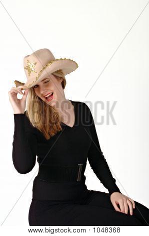 Woman Wearing A Cowboy Hat