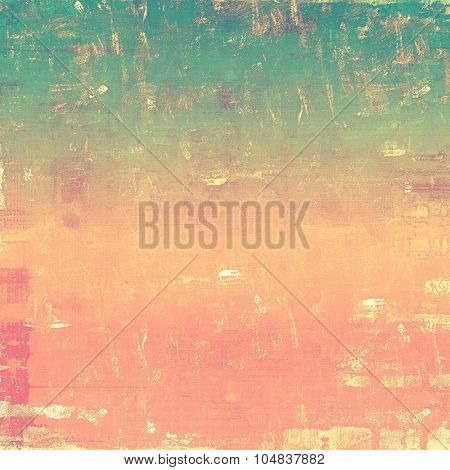 Old antique texture (for background). With different color patterns: yellow (beige); green; pink; cyan