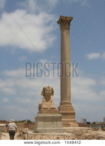 Pompeys Pillar And Sphinx