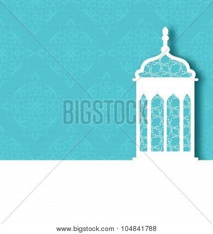 Arabic ornamental lamp for Ramadan Kareem