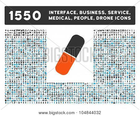 Capsule Icon and More Interface, Business, Medical, People, Awards Vector Symbols