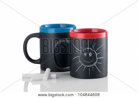 Cups With Smiling Sunshine
