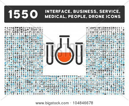Chemical Vessels Icon and More Interface, Business, Medical, People, Awards Vector Symbols