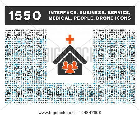 Church Icon and More Interface, Business, Medical, People, Awards Vector Symbols