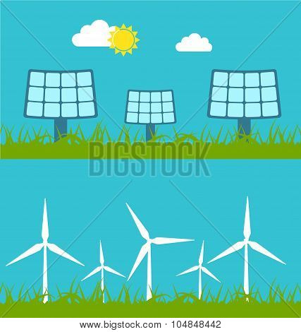 Solar Panels and Wind Generators