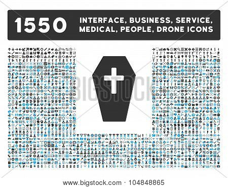 Coffin Icon and More Interface, Business, Medical, People, Awards Vector Symbols