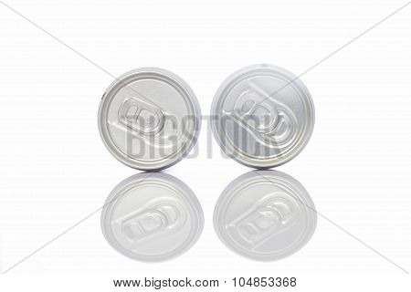 Juice Can With Pull Tab Ring On White Background