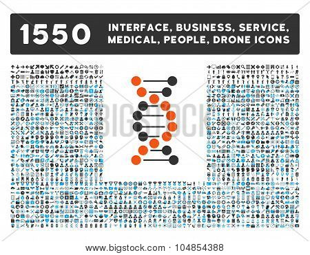 Dna Spiral V2 Icon and More Interface, Business, Medical, People, Awards Vector Symbols