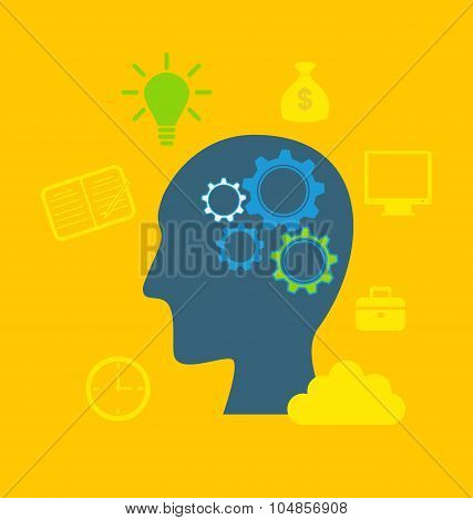 Concepts of intelligence, intellectual work, productivity, creat