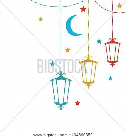 Celebration Cute Card for Ramadan Kareem