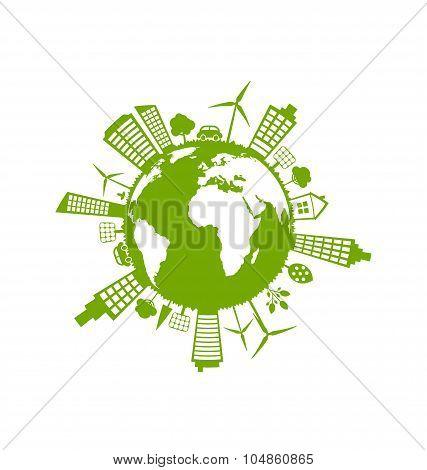Green Futuristic World