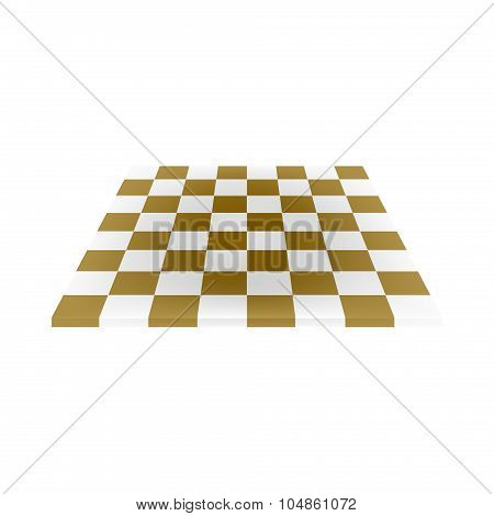 Empty chess board in brown and white design