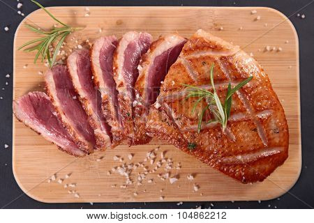 grilled duck meat