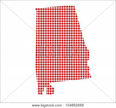 Red Dot Map Of Alabama