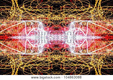 Light Trails Lightpainting Abstract