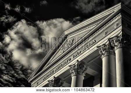 Pioneers Palace In Ufa Russia In Black And White