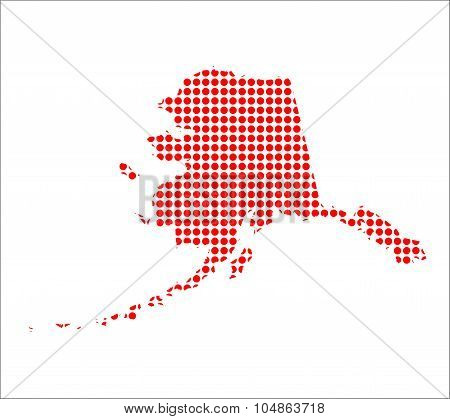 Red Dot Map Of Alaska