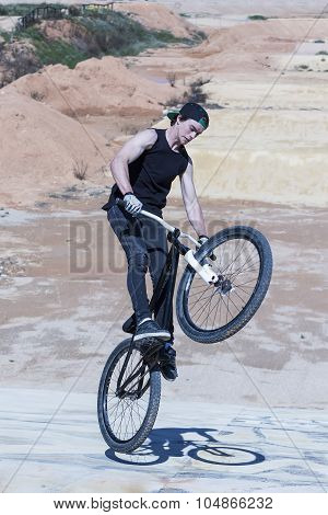 Bmx Biker Stunt